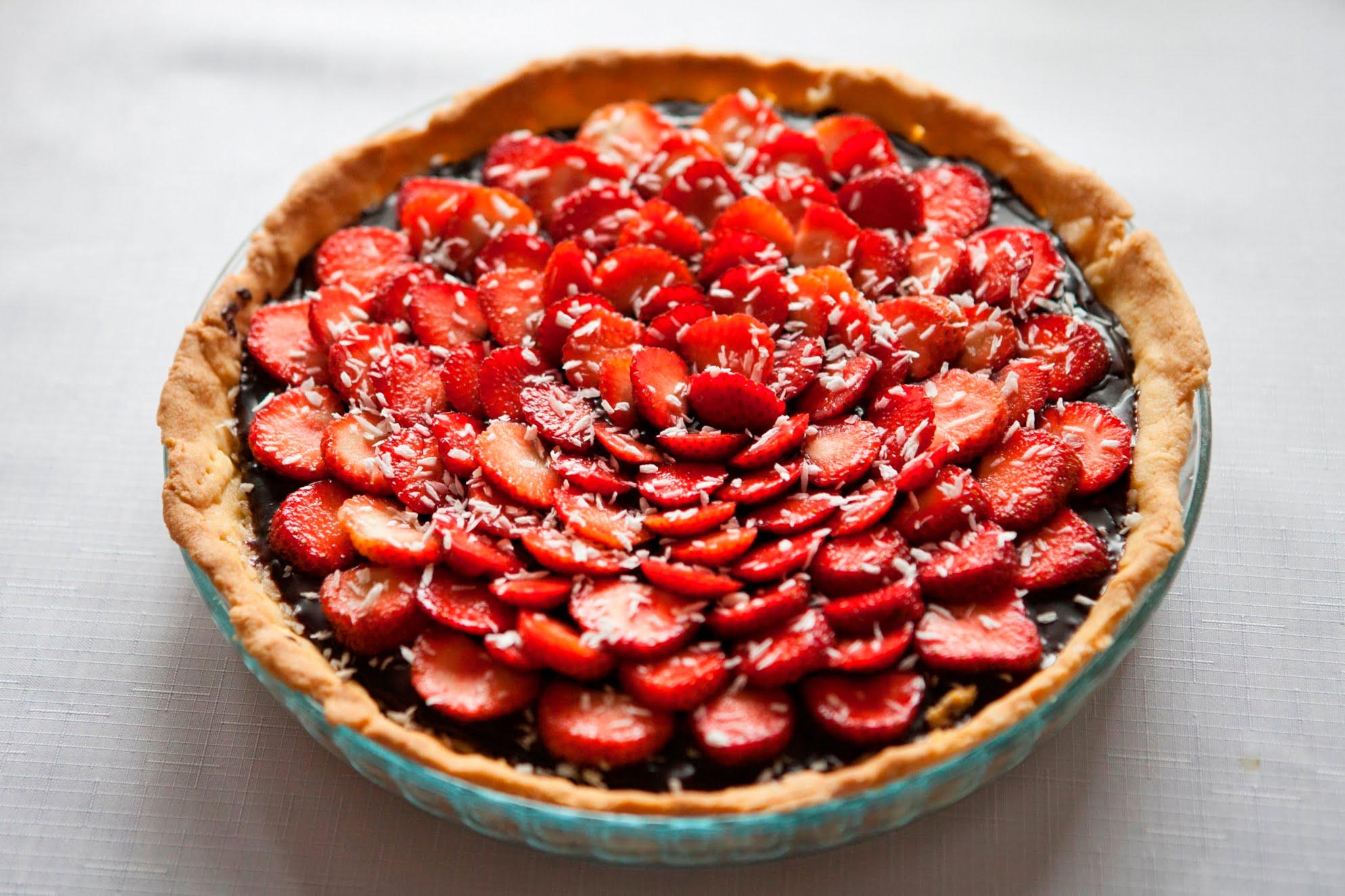 Tarta truskawkowa zkokosem